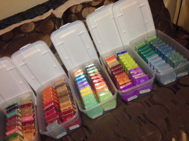 Organize 20 Scentsy Bars In 6 Quart Shoe Box Containers