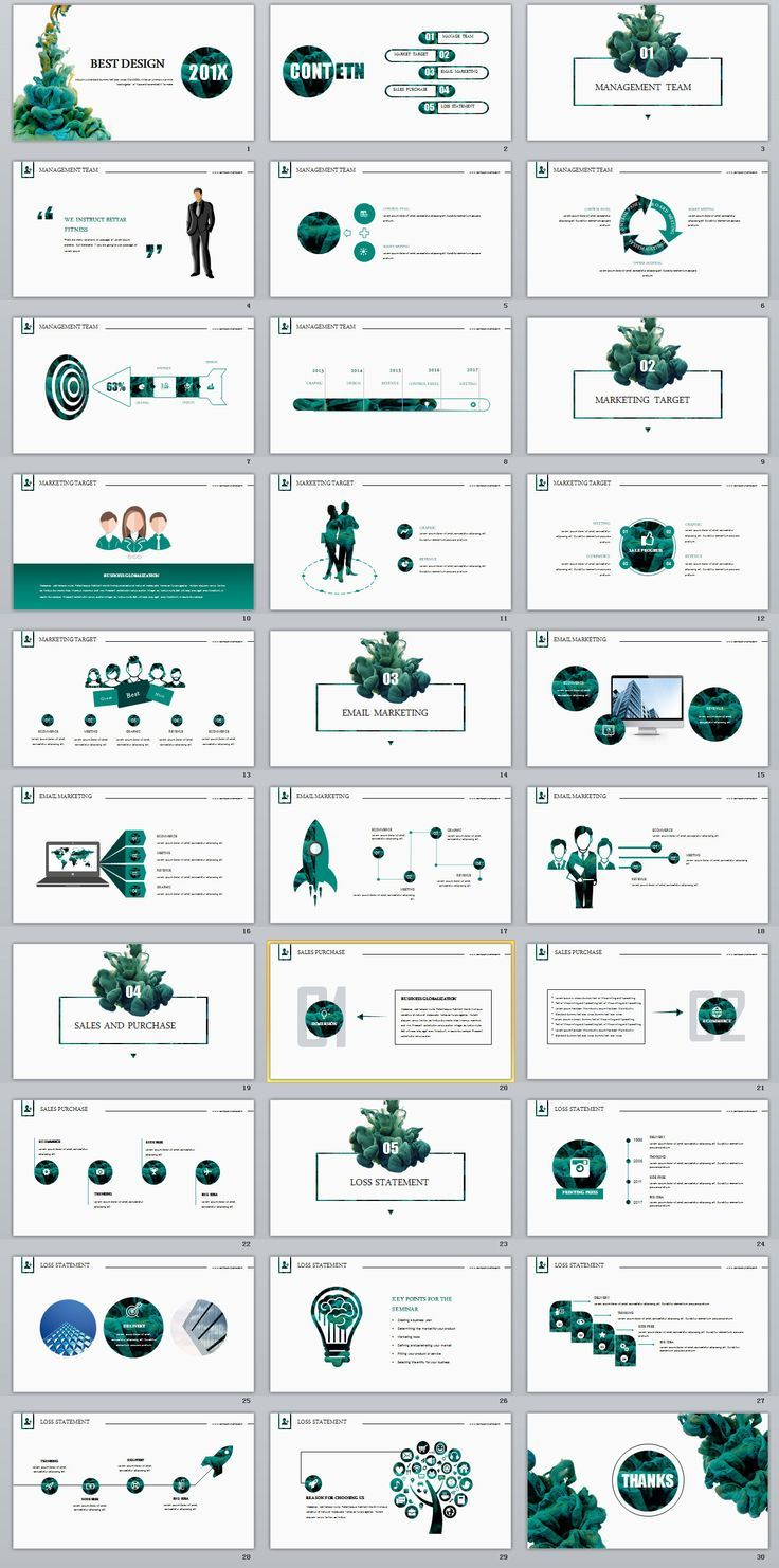 Cartes De Visite Business Infographic 30 Best Report Annual Green White Design PowerPoint Templates Powerpo