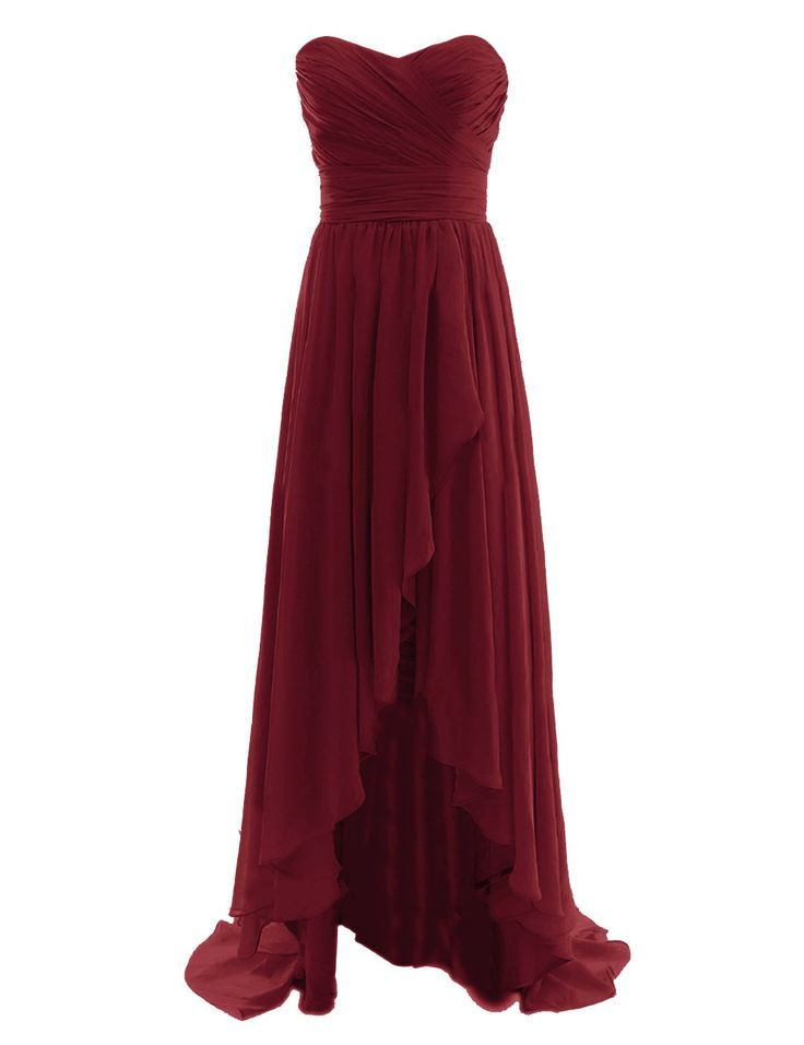 Diyouth Long High Low Bridesmaid Dresses Sweetheart Formal Evening Gowns At Amazon Women S