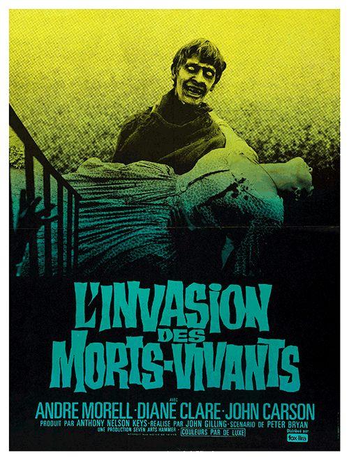"""[11] De la décennie où la Hammer a dominé le fantastique, on peut retenir """"L'invasion des morts-vivants"""". Des zombies en pleine campagne britannique, deux avant """"La nuit des morts-vivants"""" de George Romero..."""