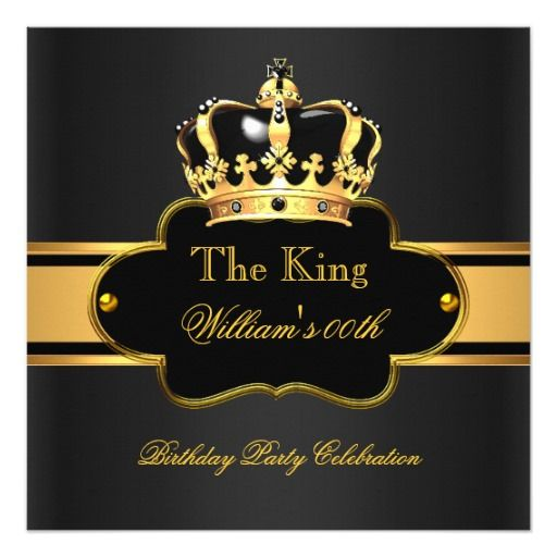 420 best Black Gold Birthday Party Invitations images on Pinterest