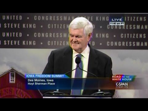 • Newt Gingrich • Iowa Freedom Summit  • 1/24/15 •Great Speech to better understand islam