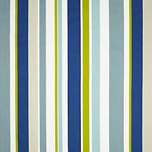 Buy little home at John Lewis Harrison Stripe Curtain, Blue / Green Online at johnlewis.com