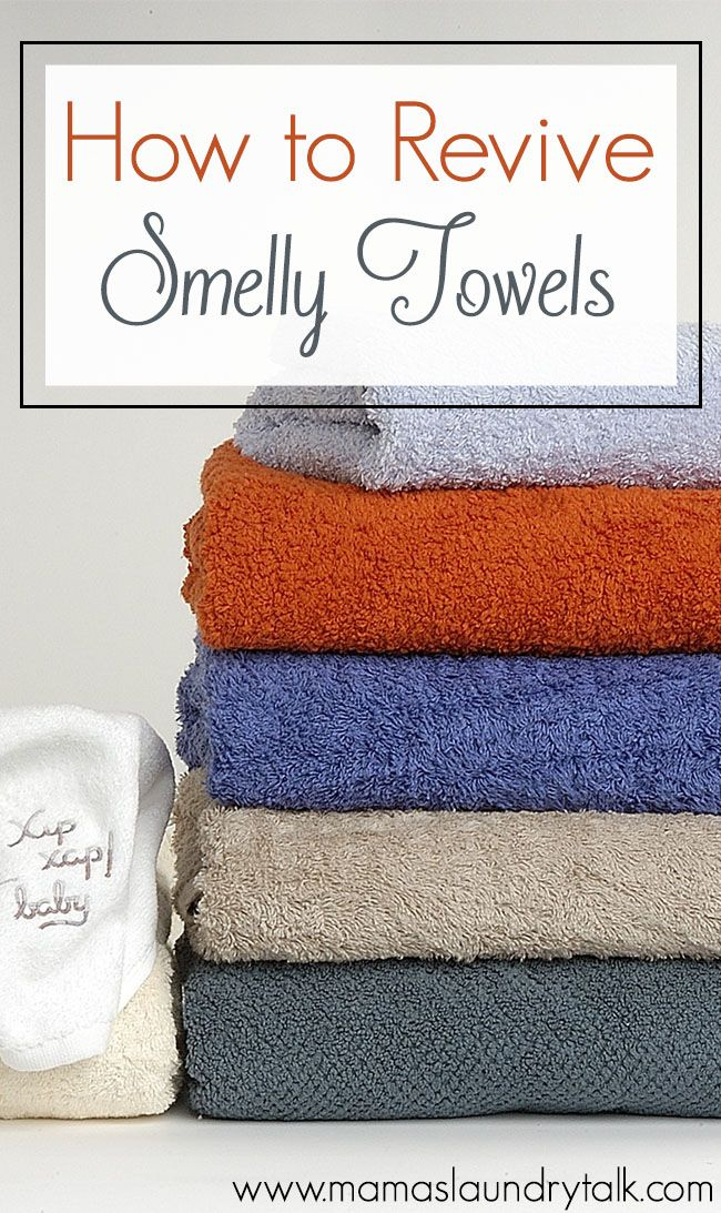 how to get musty smell out of towels