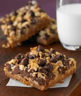Magic Cookie Bars - these are always a big hit.  Butterscotch chips can be the 7th layer.  M&Ms are a nice addition too. This is a very easy recipe!