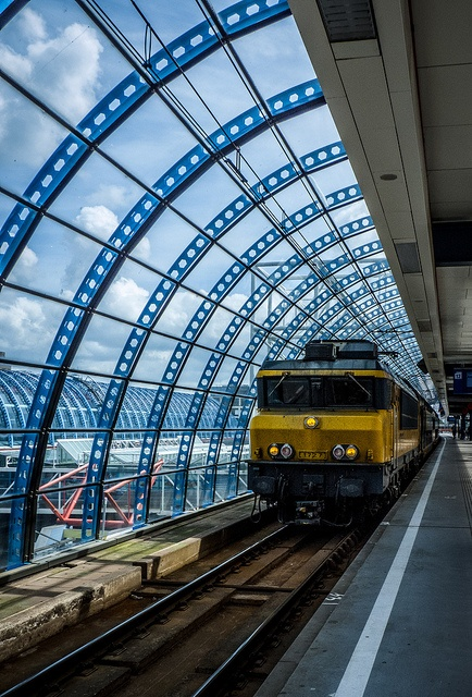 """Station Sloterdijk, Amsterdam.  We loved train travel in The Netherlands, esp. the """"colorful"""" people in Amsterdam!"""