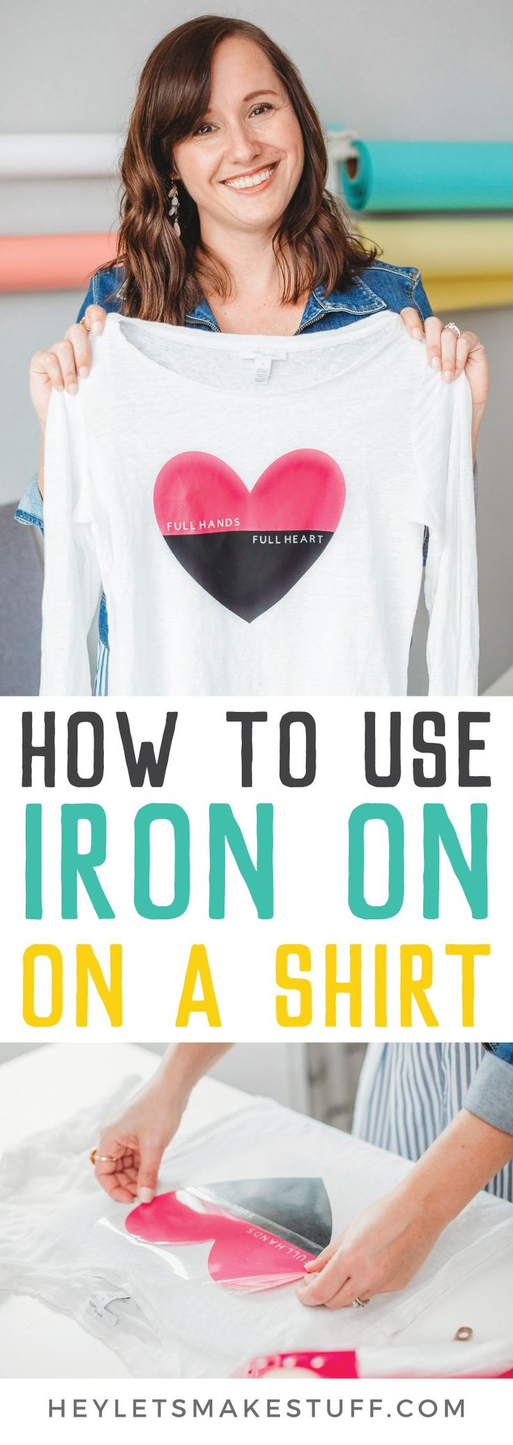 Using Cricut Iron On Vinyl on a Shirt in 2020 Cricut