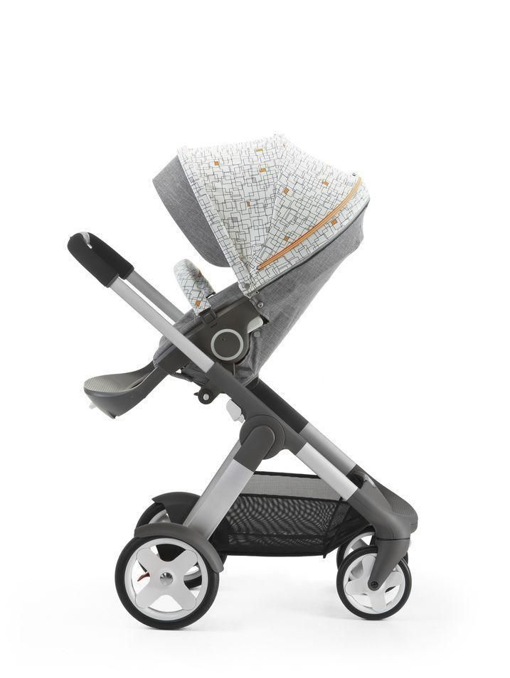 Stokke Stroller Style kit in NEW Grid Pattern on Stokke Crusi Stroller