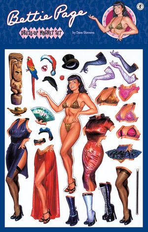 Bettie Page Pin Up Dress Up Magnet Set