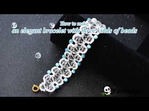 How to make an elegant bracelet with three kinds of beads - YouTube