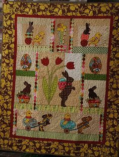 Barbara's Easter quilt.  I love, love, love the whole quilt but especially the chicks.