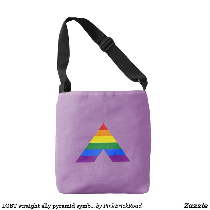 LGBT straight ally pyramid symbol Tote Bag