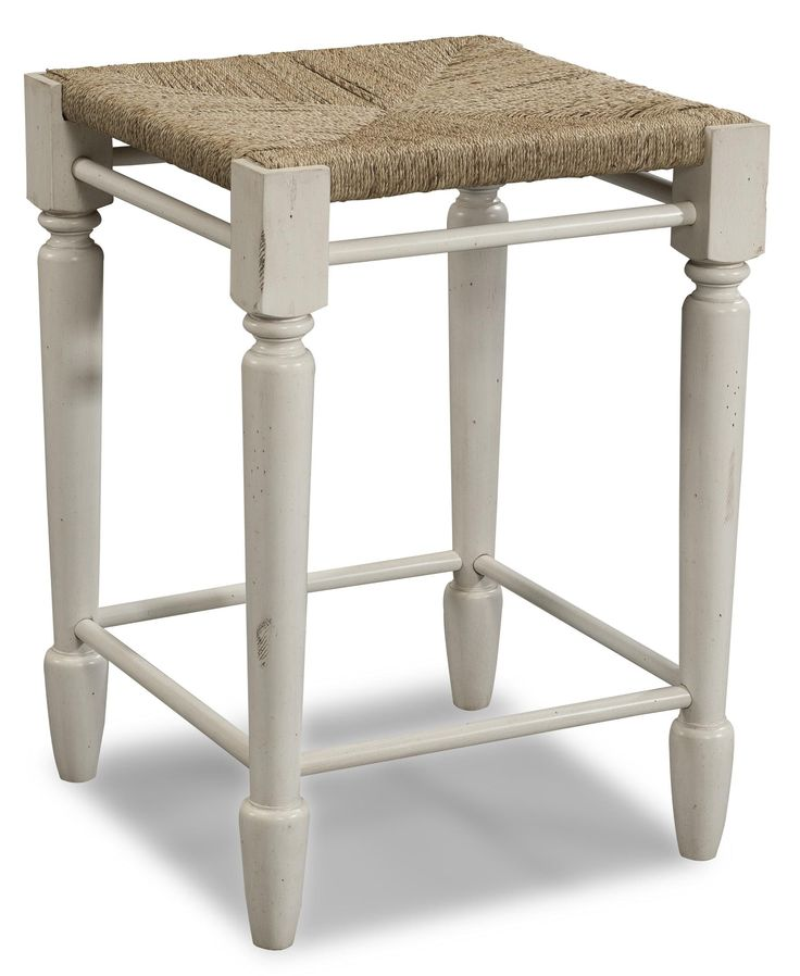 Sea Breeze White Desk Stool by Carolina Preserves by Klaussner  sc 1 st  Pinterest : office desk stool - islam-shia.org
