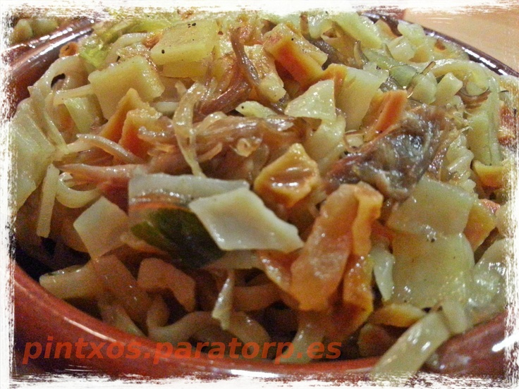 Pintxo del finde: Pintxo de noodles con pato confitado y verduras #food #pintxo #tapas