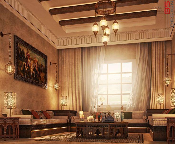 Arabic Majlis Design Private Villa Doha Qatar