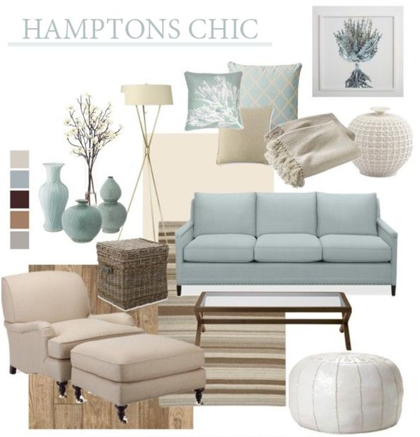 """Hamptons Chic Beach House Style"""