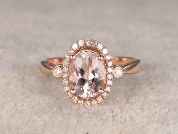 Morganit Verlobungsring stieg Gold, 14K & 18K Rose/weiss/Gold erhältlich. Jeder Schmuck in meinem Shop benötigt zu bestellen. Der Verlobungsring verfügt über eine 6x8mm Oval geschnitten Morganit, Claw Zinken, Halo ebnen festgelegt. Diamanten gehen die Hälfte um die Band. [Artikeldetails] Verlobungsring: Solide 14K Rose Gold(Can be made in white/yellow/rose gold) Größe 5# (Ring kann geändert werden) 6x8mm Oval geschnitten 1.60ctw VVS Morganit 0.15ctw Runde Schnitt ...