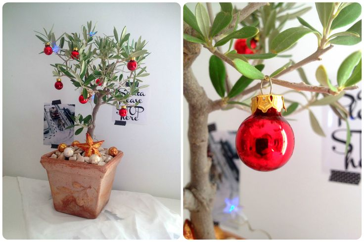 Christmas Decoration White & Nature by CalabrianSunshine  Olive Christmas Tree