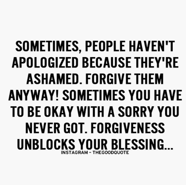 Forgive them anyway...