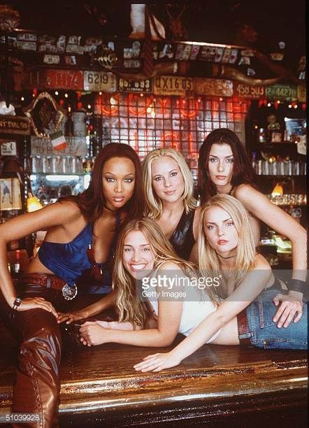 Members Of The Cast Of The New Movie 'Coyote Ugly' Which Is To Open August Clockwise From Top Left Tyra Banks Maria Bello Bridget Moynahan Izabella...