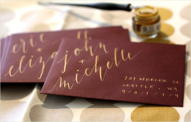 Cool way to address envelopes. Flourish & Whim - Blog