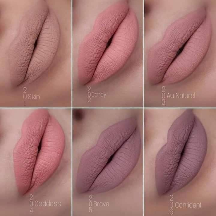 Резултат слика за farmasi liquid matte lipstick new nudes