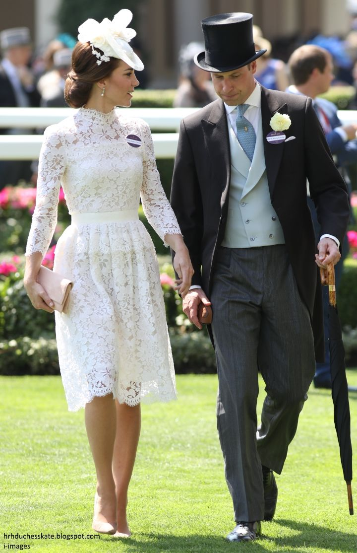 Catherine, Duchess of Cambridge and Prince William, Duke of Cambridge attend Royal Ascot 2017 at Ascot Racecourse on June 20, 2017 in Ascot, England.