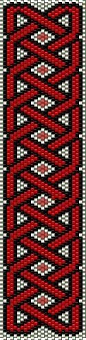Bead Weaving pattern (Peyote stitch)