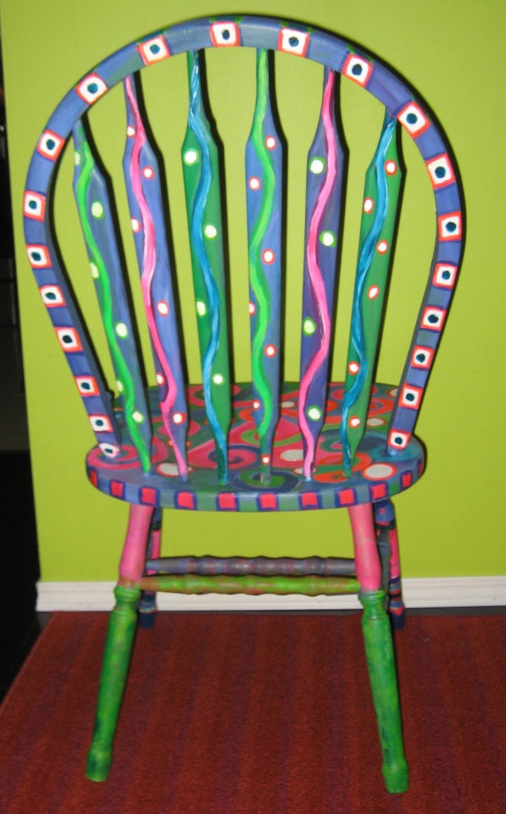 Funky painted furniture ideas - Happy Tiler Paint Party Friday Perk The Purple Prince And A Painted Chair Purple Furniturefurniture Chairsfunky