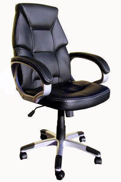 scaun de birou negru cu roti
