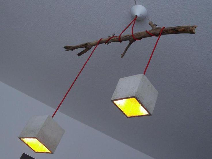 Hanglamp van beton van Beton Cube-Feinstes via  http://nl.dawanda.com/