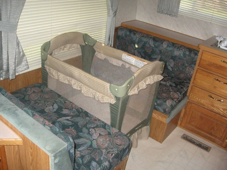 Camping with infants.  Bring a pack n play and put where the dinette is? I like it but I don't also. So hard to give baby a dedicated space in the RV.