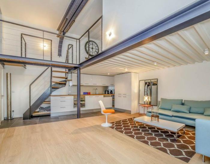 garde corps mezzanine appartement atypique avec mezzanine - Maison Moderne Avecmezzanine