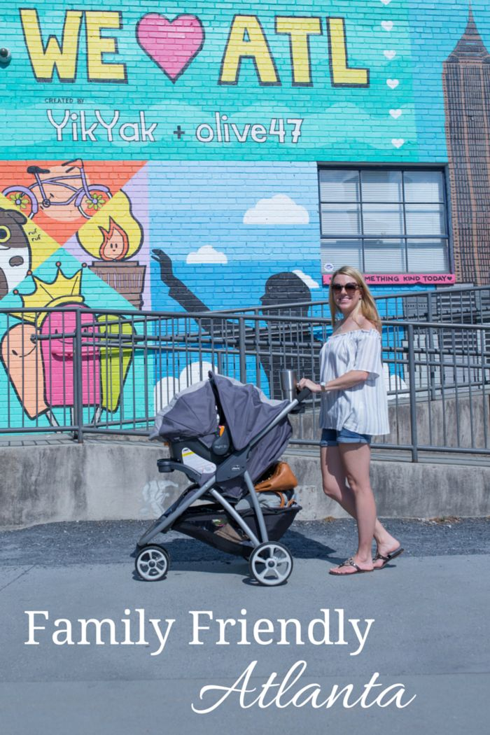 The top family friendly spots in Atlanta - a great guide for both visitors and locals! And all the details on the Chicco Viaro travel system! Thank you @chiccousa for partnering with me on this post!