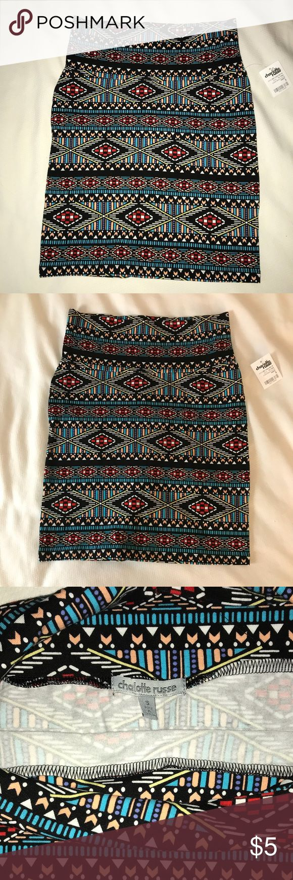 Charlotte Rouse Aztec Body Con skirt. NWT Charlotte Rouse Aztec Body Con skirt. NWT Charlotte Russe Skirts