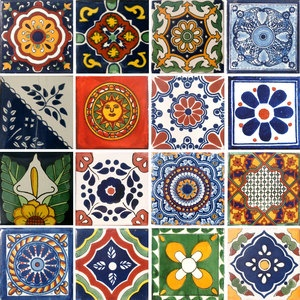 Talavera tiles (it would be cool to make a quilt that looked like these tiles)