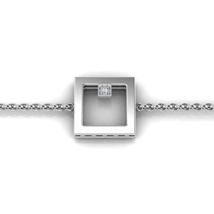 Silver Diamond Bracelet. R1000 Product Code- WW00007