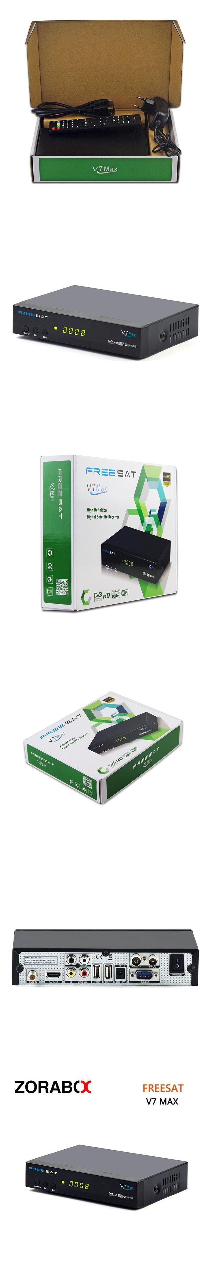 [GENUINE] FTA digital satellite receiver FREESAT v7 max  dvb-S/S2 full 1080p  HD  tv receiver support powervu Dre&bisskey cccam