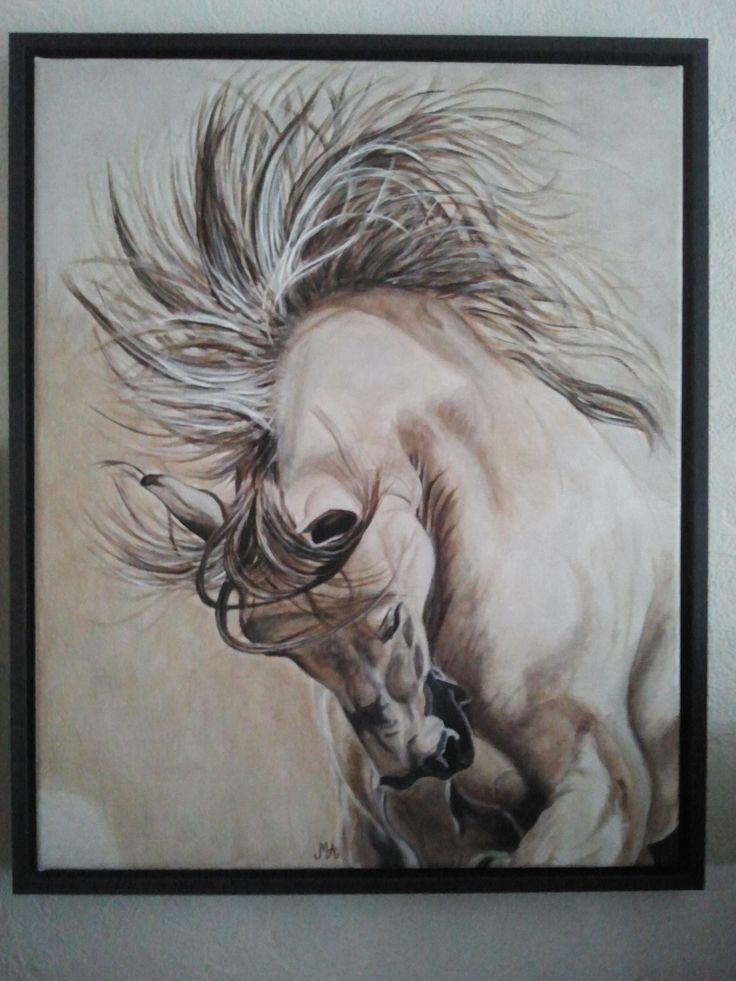 'De ruwe Kwast'  paintings schilderij paard