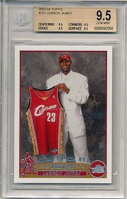 nice 2003-04 Topps LeBron James Rookie Card Graded BGS ALL 9.5 - For Sale