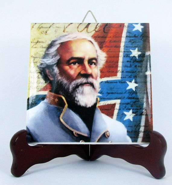 Confederate States General Lee Ceramic Tile HQ by TerryTiles2014