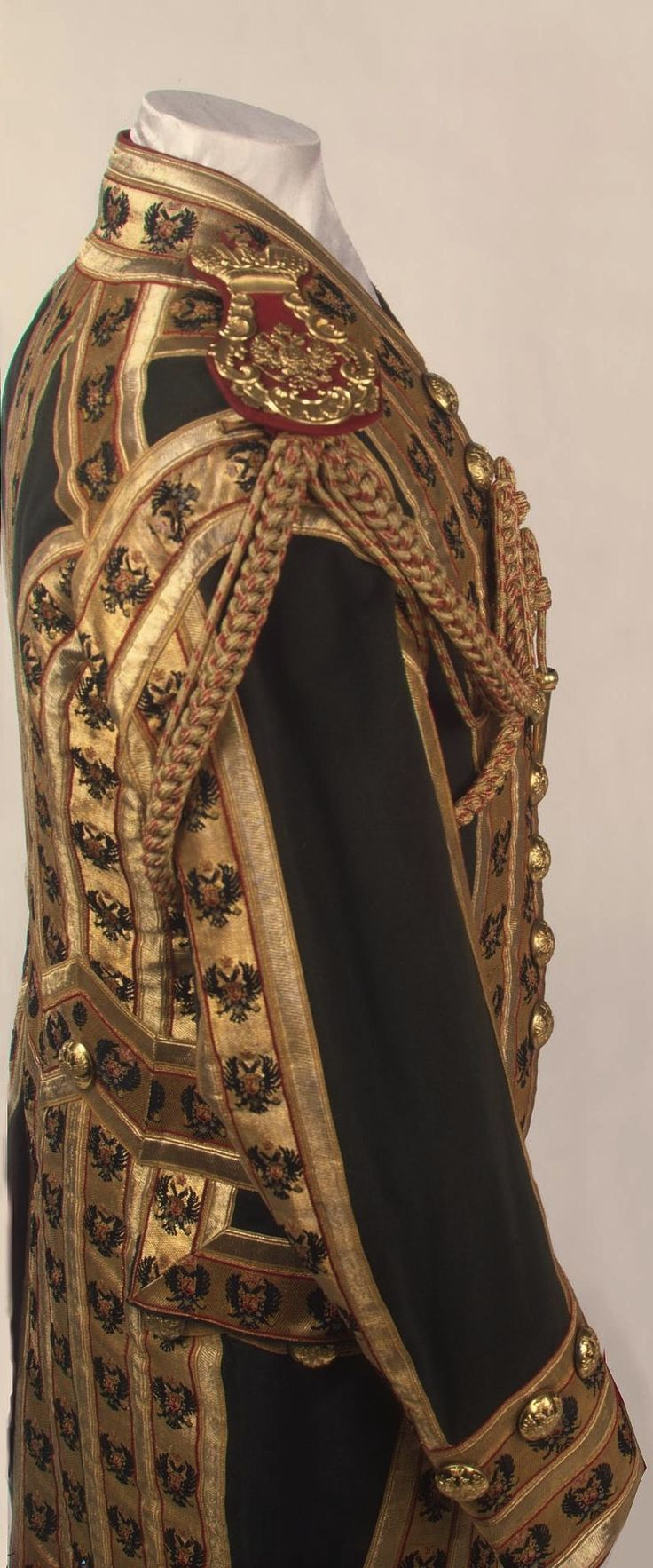 Ceremonial costume of a category I court lackey, St. Petersburg, Russia, late 19th to early 20th centuries. State Hermitage Museum.