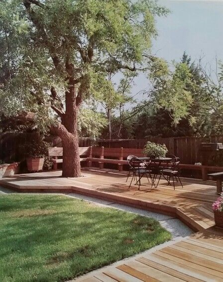 Like the low deck, built around tree, and also the color of the decking