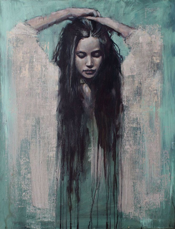 'Rise' 36ins by 28ins oil on canvas by Jamel Akib