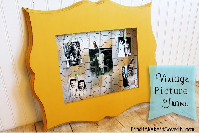 Chicken Wire Picture Frame | The Wood Connection Blog