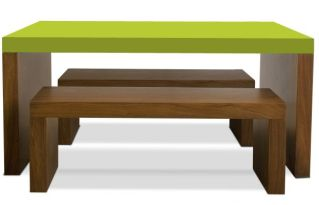 Modern kids' table and bench set - gorgeous color options!