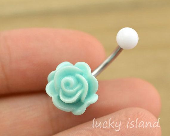 rose belly button jewelry,cute flower belly button rings,rose navel ring,rose piercing belly ring,friendship gift on Etsy, $4.99