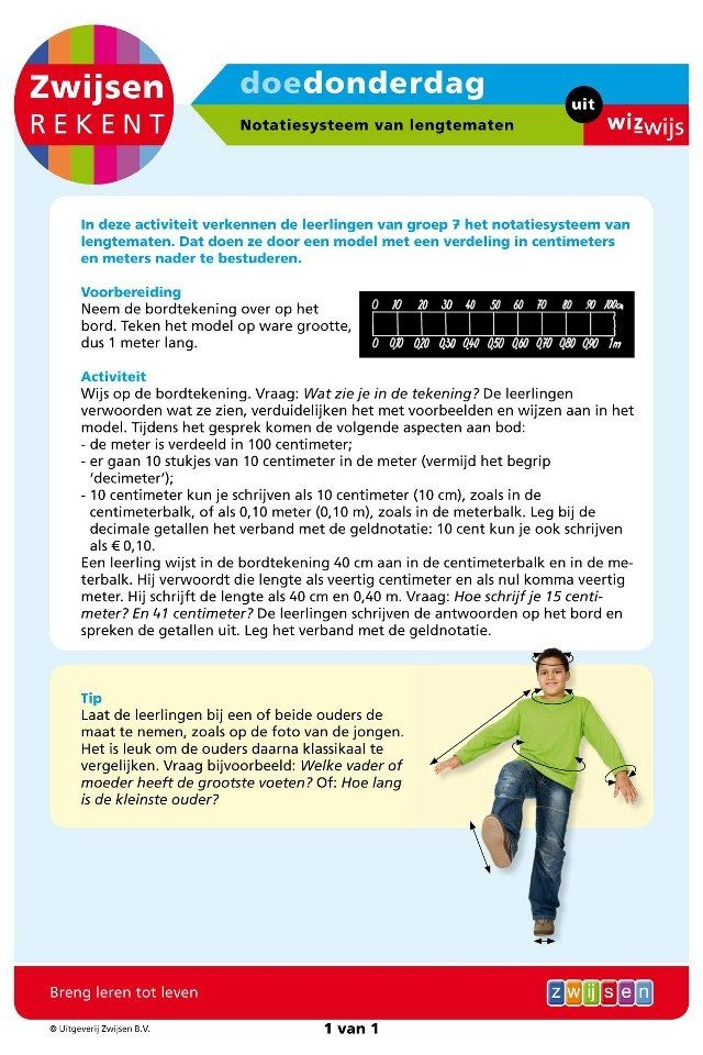 Notatiesysteem van lengtematen (groep 7)