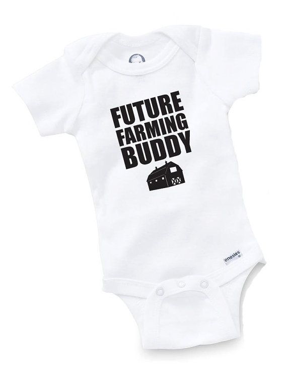 Future Farming Buddy Onesie Bodysuit Baby Shower by GopherKidz, $9.99