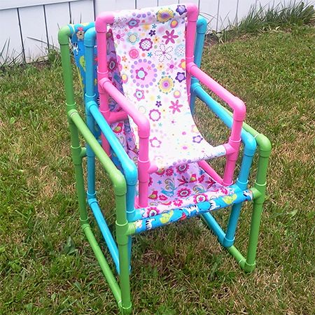 You will find step-by-step instructions for making a small, medium and large kiddies garden chair, and you can paint the chairs in any of the Rust-Oleum 2X spray paint colours. http://www.easydiy.co.za/index.php/make/437-easy-pvc-pipe-kiddies-garden-chair
